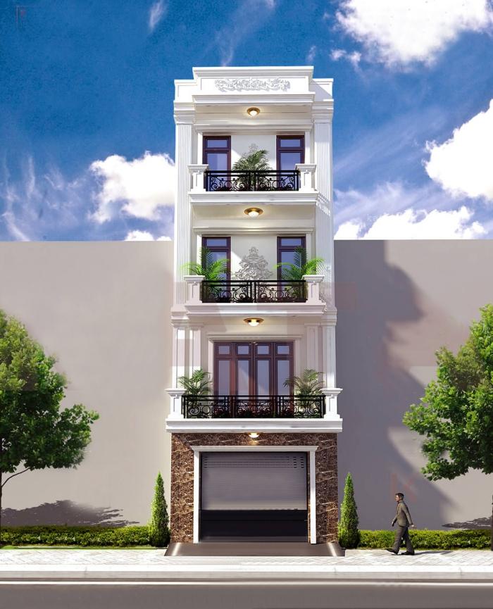 Mẫu thiết kế nhà 4 tầng mặt tiền 4m đẹp - Hình 5